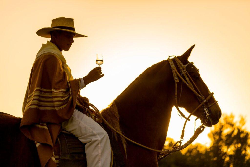 Photo d'un cavalier au Pérou