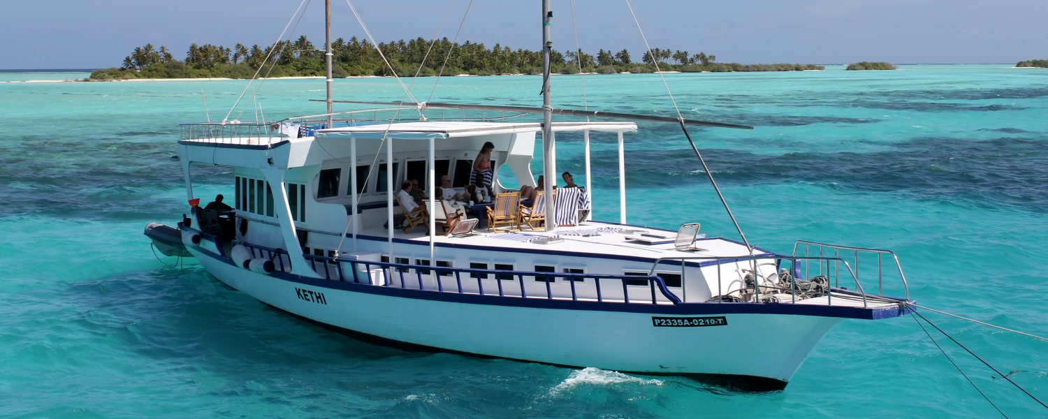 Picture of a cruise boat in maldives